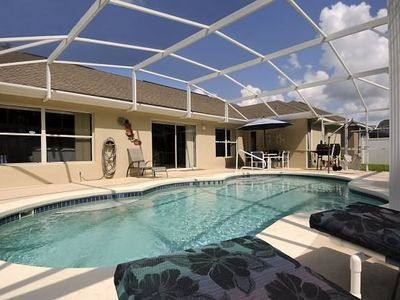 Extended Private Pool and Hot tub with luxurious Padded Furniture, gas BBQ