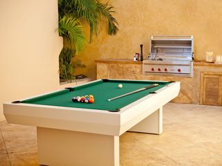 Cruz Bay villa photo - Barbecue terrace with billiard table