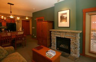 Mammoth Lakes condo photo - .Living area features gas-powered fireplace, flat screen TV and DVD player