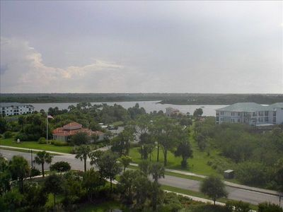 Balcony view of the intercoastal waterway