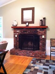 North Conway house photo - Living Room Fireplace