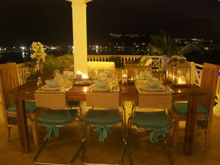Curacao villa photo - Dinner with a view!
