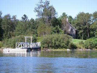 Westport Island house photo - Barn and deep-water dock
