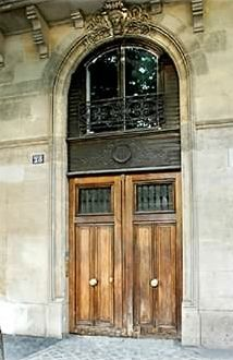 Entrance door of the building