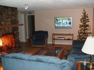 North Conway house photo - Living room with 42' plasma TV, cable, DVD & VCR