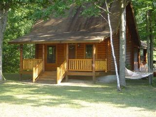 Au Gres cabin rental - Front view of cabin
