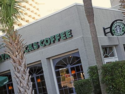 Forest Dunes condo rental - River City cafe and Starbucks coffee for your morning fix & casual dining!