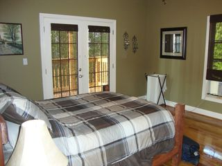 Nancy cabin photo - Master bedroom with french doors to the deck