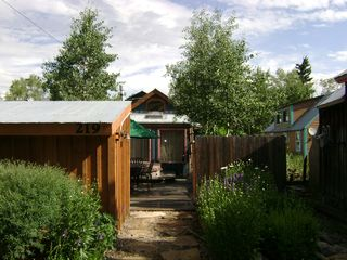 Crested Butte cottage photo - From Parking Area/Summer - Sauna on Left