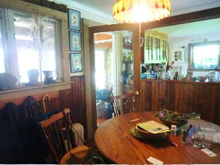 Great Barrington house photo - dining room, kitchen and door to big porch