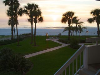 Redington Shores condo photo - View of grounds from the lobby of our condo.