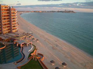 Puerto Penasco condo photo - Balcony view to the east, toward Old Port at Sunset