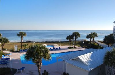 Best view on Fripp Island! Deck and main room overlook pool to ocean sunrise