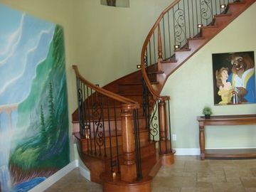 Our castle mural and a Beauty & the Beast mural take you to a faraway land!