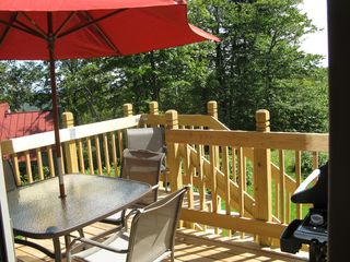 Windham chalet photo - Rear Deck with View
