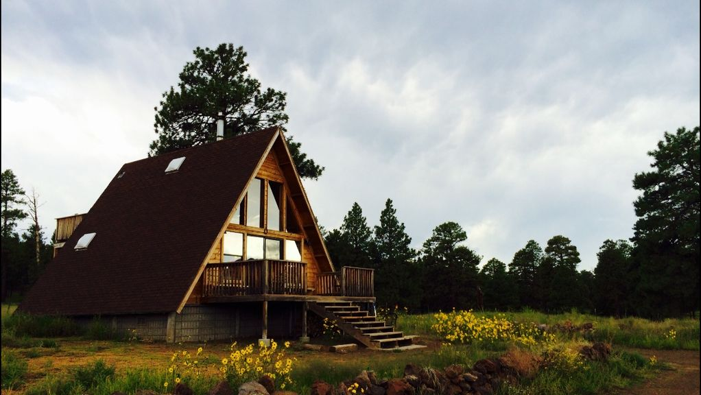 A-Frame Cabin with loft and views on 1.5... - VRBO