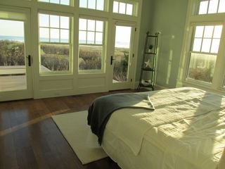 Provincetown estate photo - First Floor Queen Bedroom with Deck to Beach