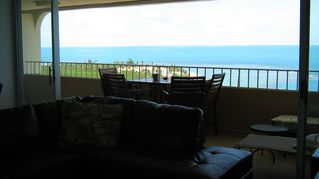Luquillo condo photo - panoramic ocean view from living and dining room