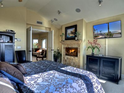 Master Retreat Fireplace & Big Screen TV
