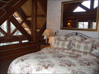 Mountain Village house photo - Master Bedroom with View, Full Bath Suite and Great Log Work