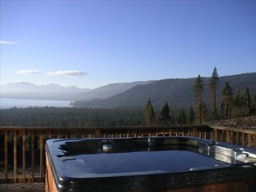 Tahoe City house rental - Panoramic Lake View Hot Tub-Looking South/West From The Deck!