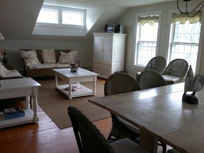 Nantucket Town house rental - Living room back house.