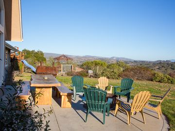 Lompoc house rental - Outdoor Seating - There is plenty of outdoor seating area for you to enjoy the panoramic views of the Santa Rita.