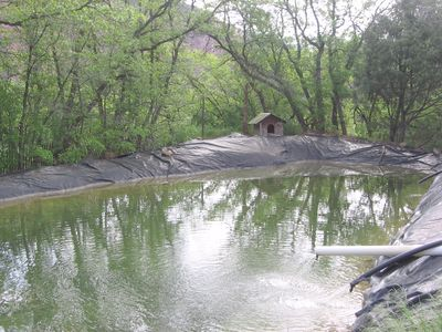 Abiquiu cabin rental - Ranch Casita's swim pond