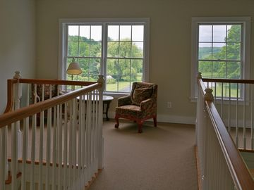 Sitting Area at Top of Stairs with Views