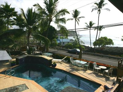 View of pool overlooking Kahaluu Bay (Snorkel Beach)