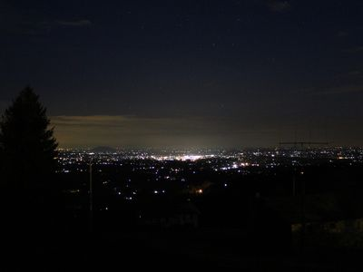 The night time view from the deck  porch is spectacular!
