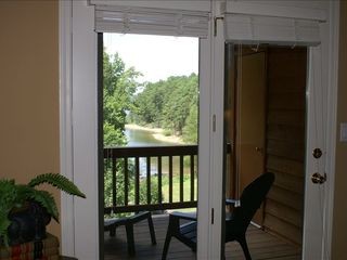 Lake Ouachita condo photo - View of lake from master bedroom