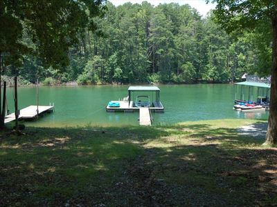 Welcome to the Lake!  Level, open shoreline, gentle slope to the lake. no steps