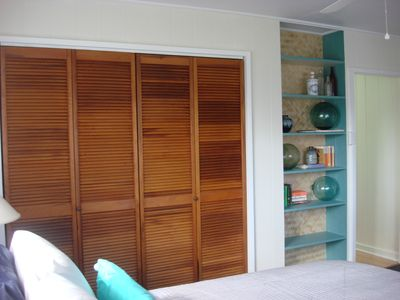 Both rooms have large closets for storage and organization.