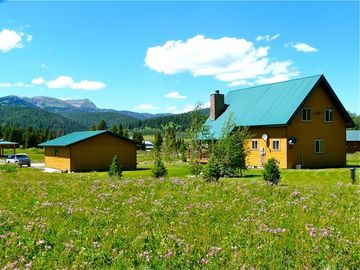 Summertime at Mule Deer, with views of Lionhead Mountian