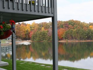 Moneta condo photo - View to left of deck with beautiful and colorful fall foliage