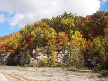 Fall colors at High Cliff State Park about 30 minutes north of Mallards Cove