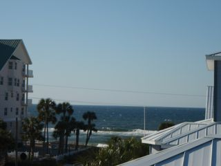Crystal Beach house photo - Spectacular Ocean View from Balcony! That close, just steps from the sand!!