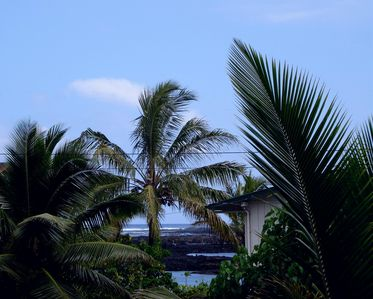 Enjoy the ocean view from the lanai.