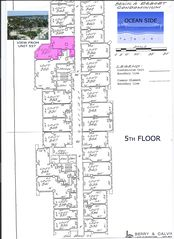 Hollywood Beach condo photo - 5th floor layout for unit 557