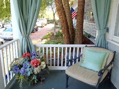 Comfortable front porch seating