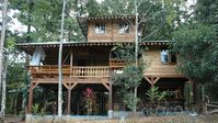 The house is in the middle of jungle but also 5 minutes walk from beach