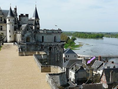 Townhouse with spectacular view on Amboise's royal castle
