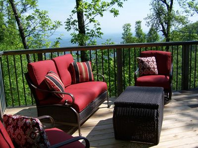 Relax on our newly expanded deck and enjoy the views.