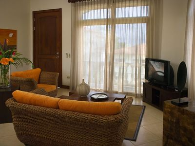 Jaco Beach Village, One bedroom condo, living room.