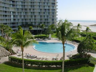 South Seas Club condo photo - Lower View of Pool and Beach