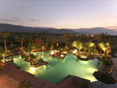 4000 square foot pool featured in Palm Springs Life and Desert Magazine