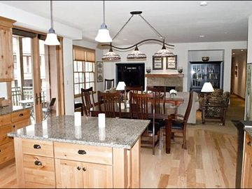Open Layout Between the Kitchen, Dining Area, and Kitchen