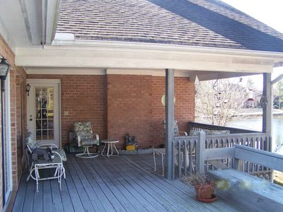 Covered portion of deck