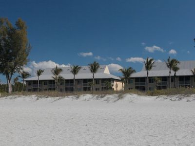 Veiw of Plantation Beach Club from the water, South Seas Island Resort, Captiva